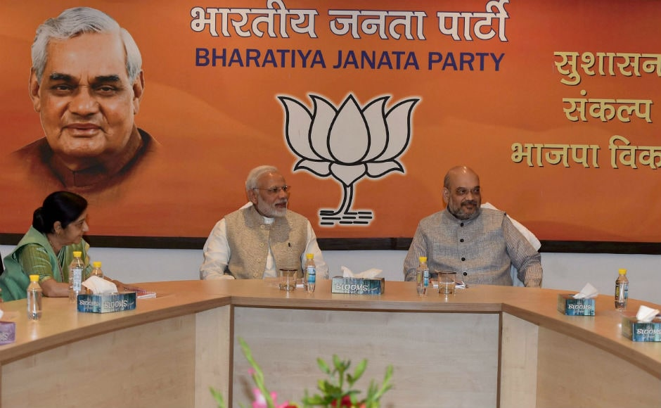 Later on Wednesday evening, the BJP parliamentary board quickly met in Delhi and appointed a three-member committee of Bihar leaders to study the situation. Narendra Modi welcomed Kumar's resignation. In a tweet, he congratulated Nitish for joining the fight against corruption. PTI