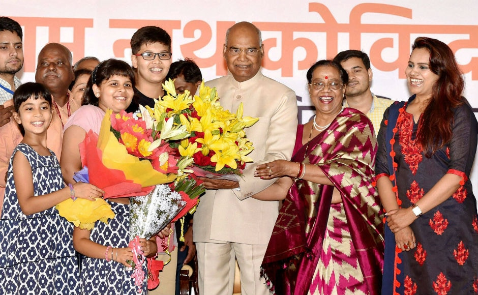 Kovind thanked all those who supported him in his journey and said that the moment is emotional for him. He vowed to represent all those struggling to make a living. PTI