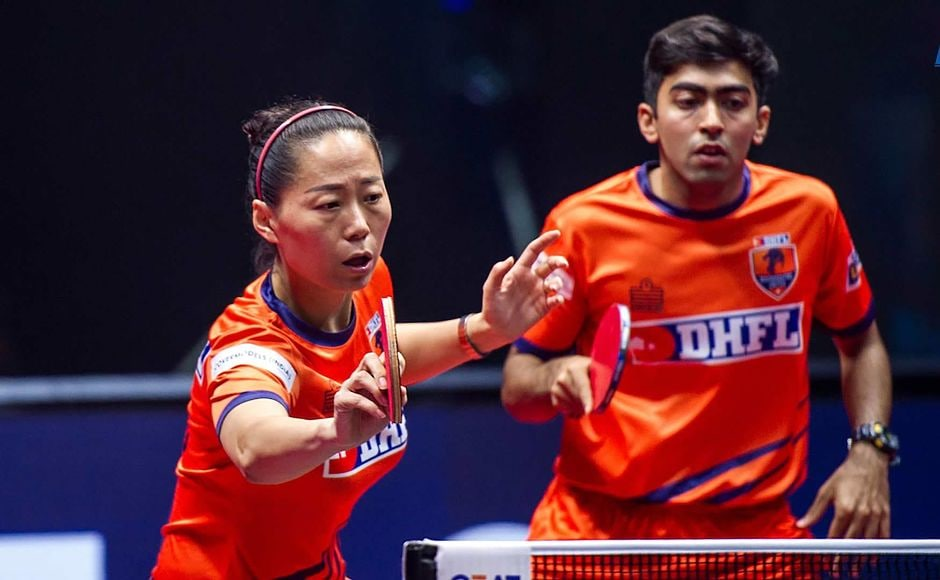 The roller-coaster then match saw Maharashtra United claw their way back into the match. Harmeet Desai and the experienced Fu Yu edged out Sanil Shetty and his partner Lee Ho Ching 2-1 to reduce their margin of deficit to 4-5. Image courtesy: Facebook/Ultimate Table Tennis