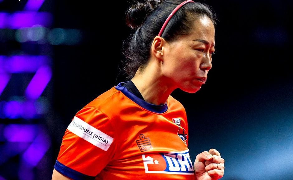 However, Fu Yu brought Maharashtra United back into the game by blanking Tetyana Bilenko to close the gap in points and come back in contention. Image courtesy: www.ultimatetabletennis.in