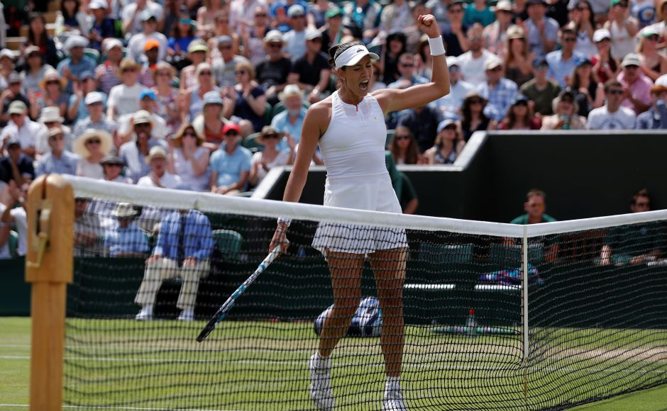 2015 Wimbledon finalist Garbine Muguruza eliminated the 2016 finalistAngelique Kerber from the tournament. Reuters