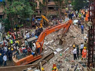 Rescue operations were going on Tuesday at the collapse site in Ghatkopar. PTI