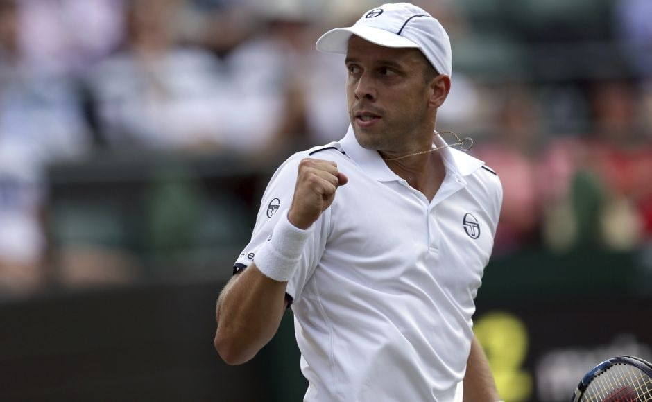 Gilles Muller upset two-time champion Rafael Nadal 6-3, 6-4, 3-6, 4-6, 15-13 in the 4th round at Wimbledon. AP