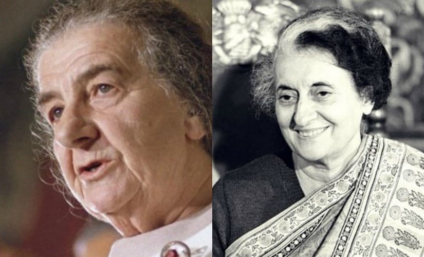 Israel Prime Minister Golda Meir and her Indian counterpart Indira Gandhi. AP and PTI