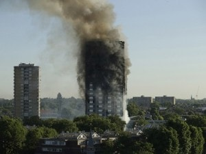File image of Grenfell Tower, which was consumed by a fire on 14 June. AP