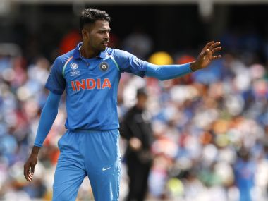 India's Hardik Pandya must complete his full quota of overs to add balance to the team. Reuters