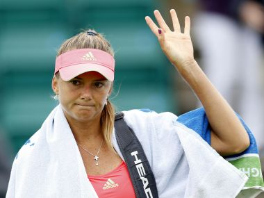 Tennis - Aegon Open - Nottingham Tennis Centre - 9/6/15 Slovakia's Daniela Hantuchova looks dejected as she waves to fans after defeat in the first round Action Images via Reuters / Andrew Boyers Livepic - RTX1FSJO