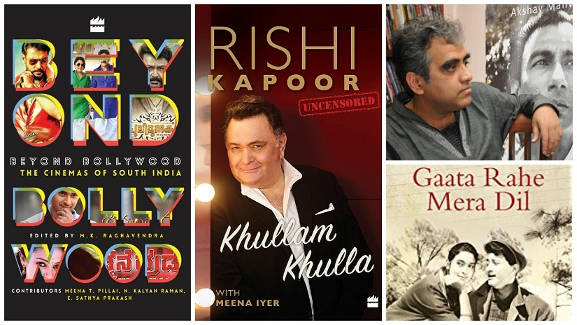 (top right) Shantanu Ray Chaudhuri, and some of the popular cinema titles he's commissioned at HarperCollins