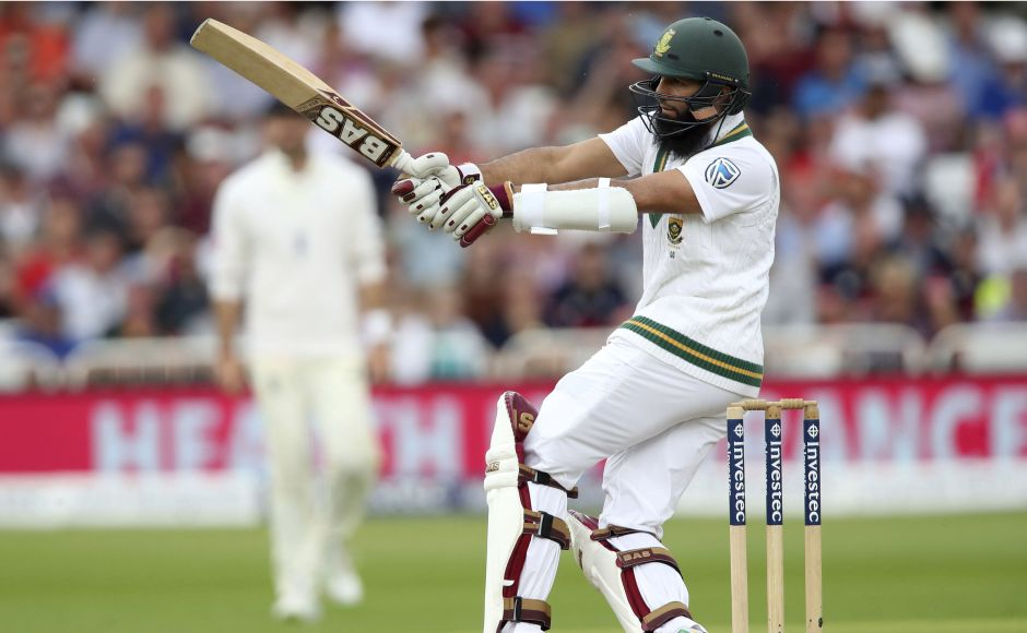 Hashim Amla once again proved to be the thorn in England's flesh as he brought up his half century. AP