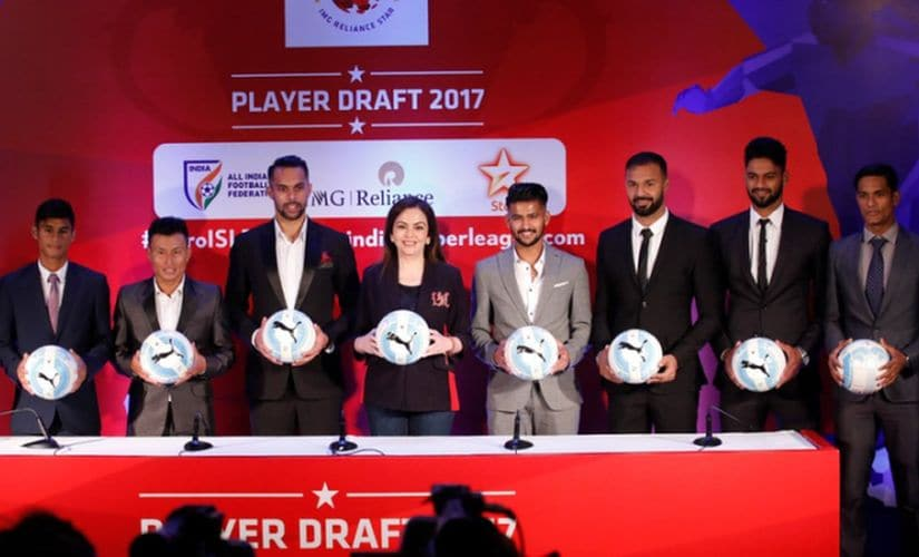 Ten ISL clubs spend close to Rs 50 crore in the latest Player draft. Twitter/@IndSuperLeague