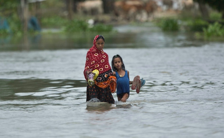 Over 17 lakh people in Assam have been affected by floods with death toll rising to 44. AP