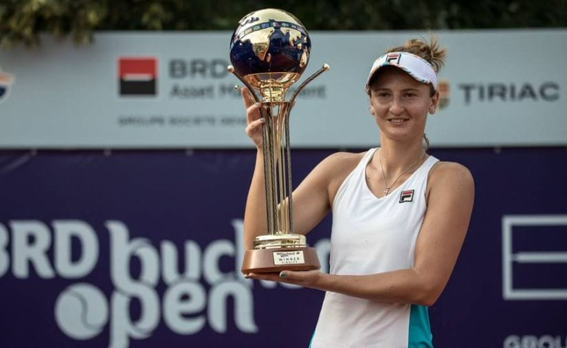 Irina Begu won both the singles and doubles titles at her hometown tournament at Bucharest. Image courtesy: Twitter/@WTAtennis