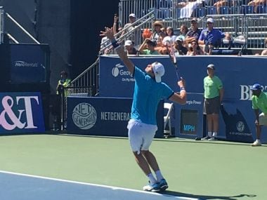 File photo of John Isner. Image Courtesy: @BBTatlantaopen