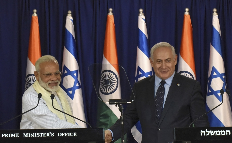 Defence, agriculture, trade, diplomacy and water management will dominate talks during Modi's visit. Modi is also expected to meet Moshe Holtzberg, a survivor of the 2008 Mumbai 26/11 terrorist attack. AP
