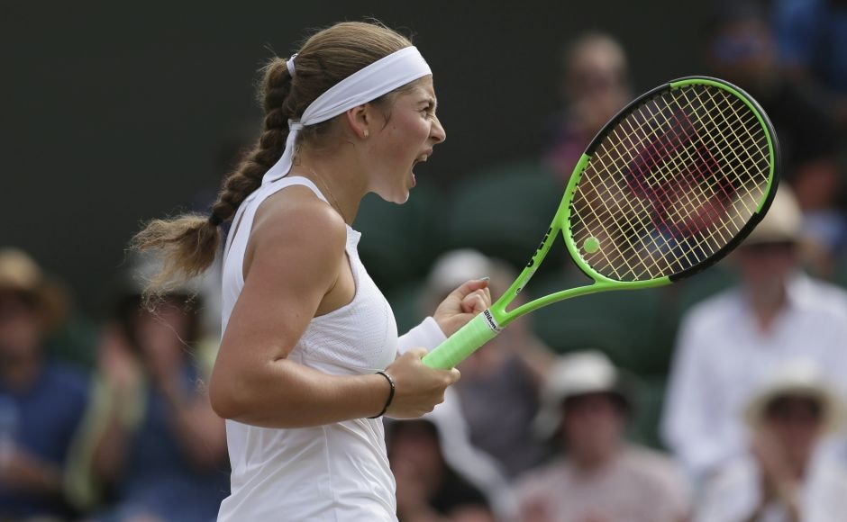 French Open champion Jelena Ostapenko continued her dream run at Wimbledon beating Camila Giorgi of Italy. AP