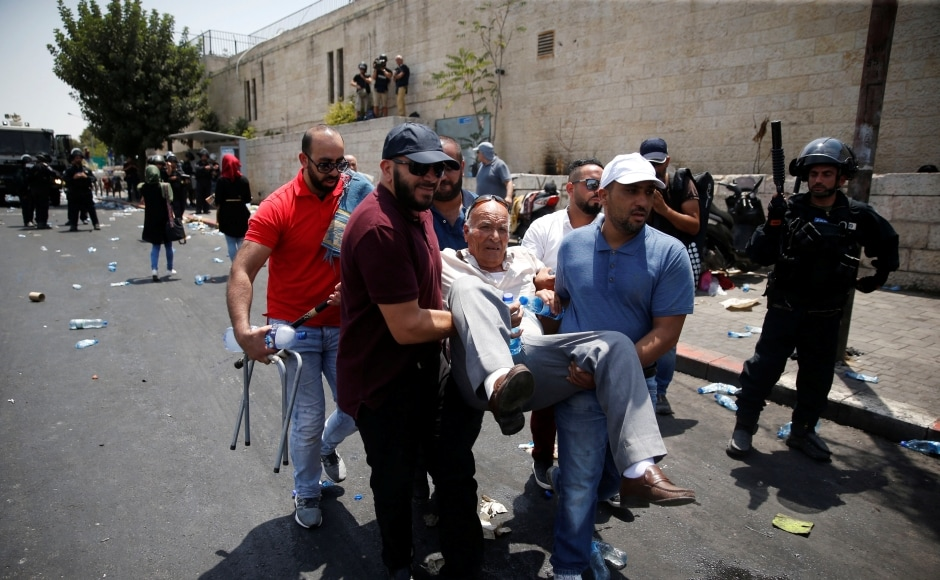 On Saturday, Palestinian youths hurled stones and petrol bombs as the army used a bulldozer to close off the 19-year-old attacker's West Bank village and prepare his house for probable demolition. Reuters