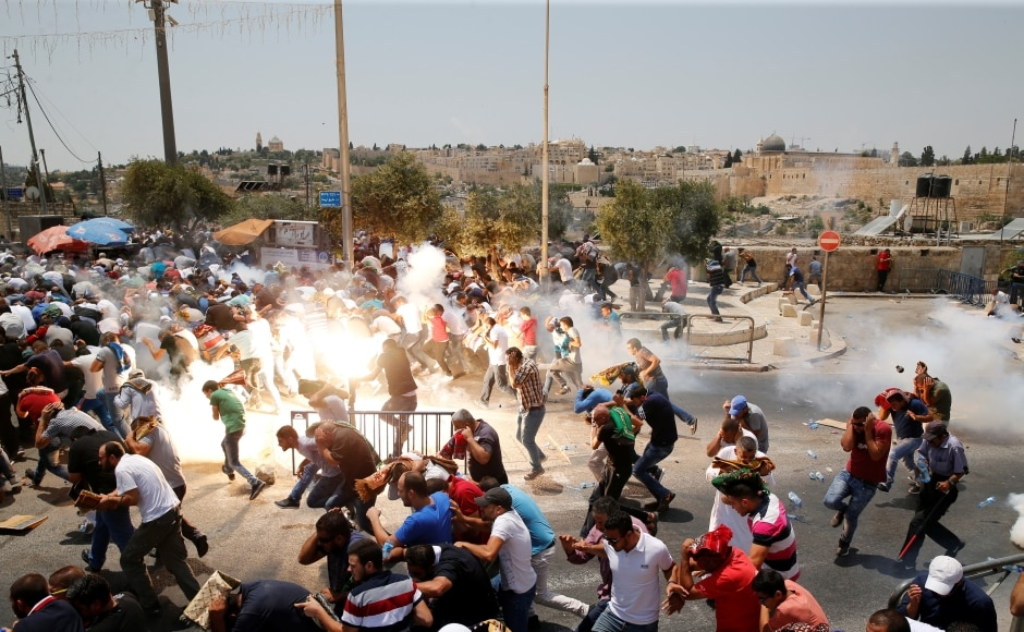 """The UN Security Council will hold closed-door talks on Monday about the spiralling violence after Egypt, France and Sweden sought a meeting to """"urgently discuss how calls for de-escalation in Jerusalem can be supported"""". Reuters"""