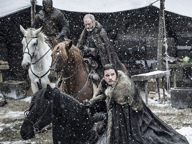 Jon leaves for Dragonstone with Ser Davos in episode 2, 'Stormborn', via HBO