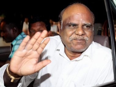 File image of retired high court judge Karnan. PTI