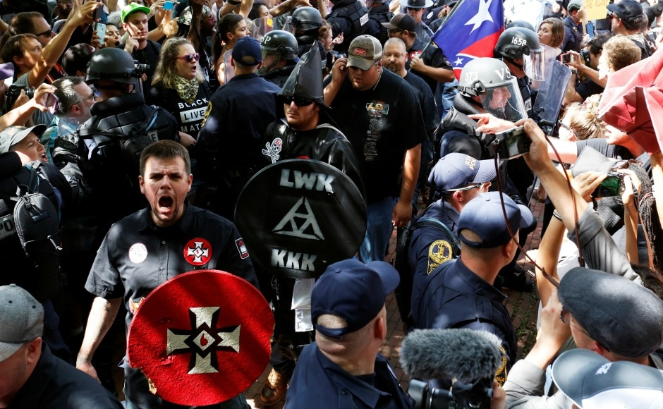 For the first time in the history of like-minded demonstrations, city officials said about a thousand were present at the march, of whom about 50 were KKK members leaving them terribly outnumbered. Reuters