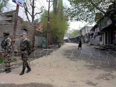 File image of an earlier encounter in Jammu and Kashmir. PTI