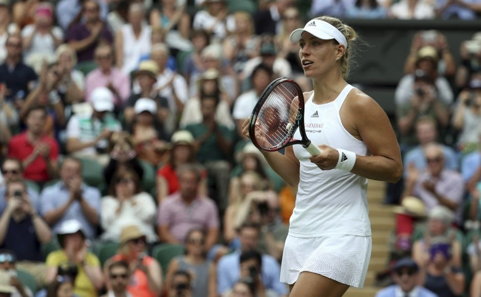 World No 1 Angelique Kerber lost to Serena Williams on Centre Court in last year's final, but she advanced Tuesday by beating Irina Falconi of the United States 6-4, 6-4. AP