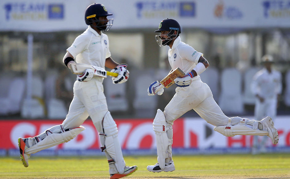 India's captain Virat Kohli and Abhinav Mukund stitched together a 133-run stand and helped visitors end with a lead of 498 runs. AP
