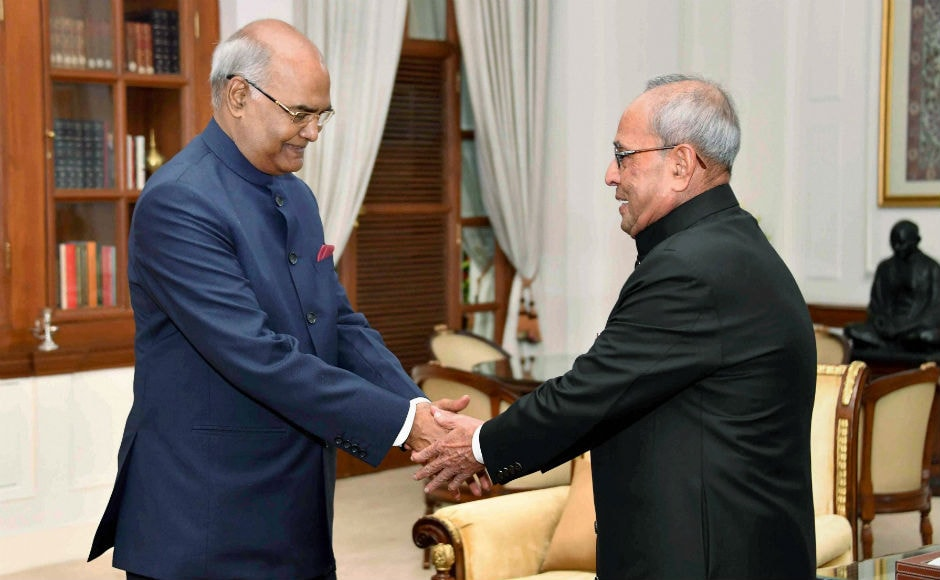 Once the oath taking was over, Kovind and Mukherjee exchanged seats on the dais after which the new president delivered his maiden speech as president. PTI