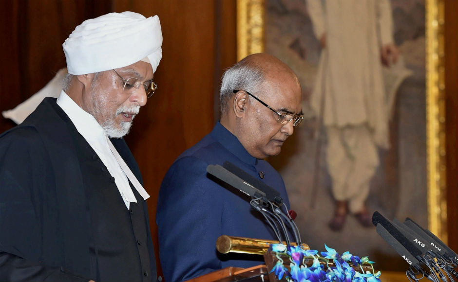 Ram Nath Kovind was sworn-in as India's 14th president. He was administered the oath of office by Chief Justice of India JS Khehar. PTI