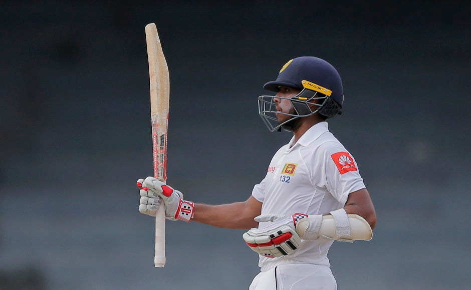 Amidst the storm, Sri Lanka's Kusal Mendis hit a fluent fifty to keep hosts' hopes alive in the 388-run chase. AP