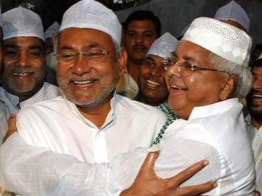 File image of Nitish Kumar and Lalu Prasad Yadav