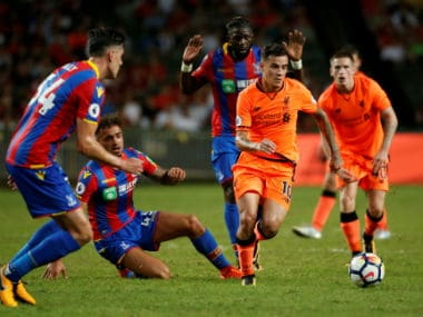 Phillipe Coutinho in action against Crystal Palace. AP