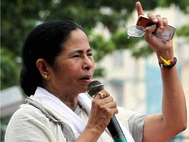 File image of West Bengal's chief minister Mamta Banerjee. PTI