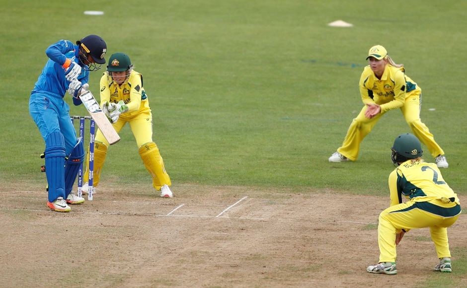 Australia captain Meg Lanning's move to start with spin paid off as Asleigh Gardner got rid of Smriti Mandhana very early. Reuters