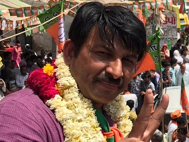 File image of Delhi BJP president Manoj Tiwari. PTI