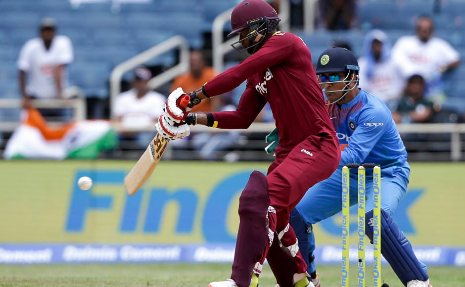 Windies' Marlon Samuels played the perfect second fiddle to the aggressive Evin Lewis. AP