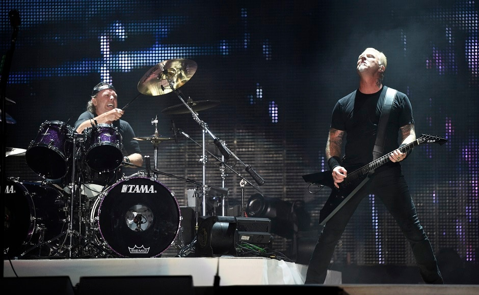 Lars Ulrich, left, and James Hetfield of Metallica. Photo by AP