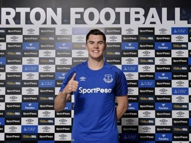 Michael Keane has signed a five-year contract with Everton. Twitter/@Everton