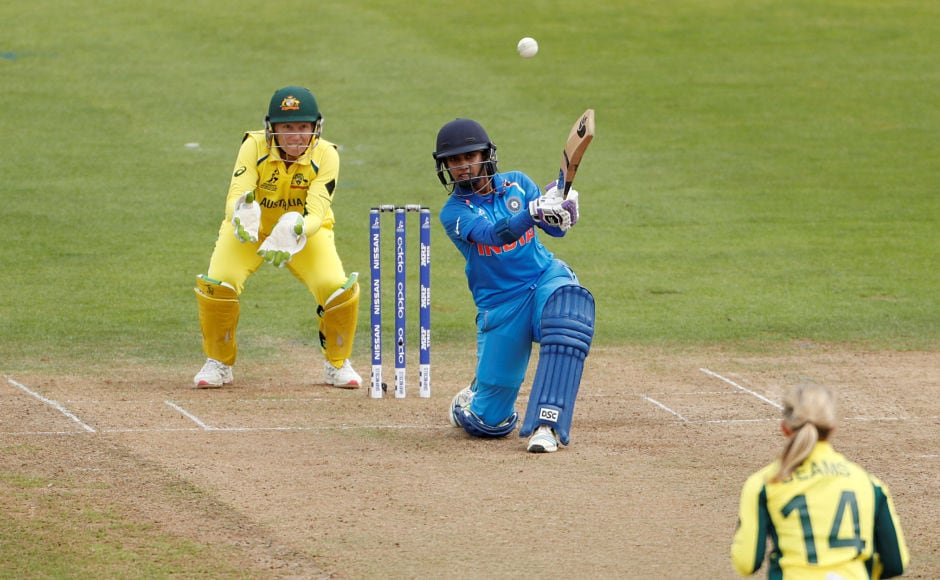 Mithali Raj steadied India's innings with Punam Raut's help. In the process, she became the highest run-scorer in Women's ODI's and also became the 1st to score 6,000 runs. Reuters
