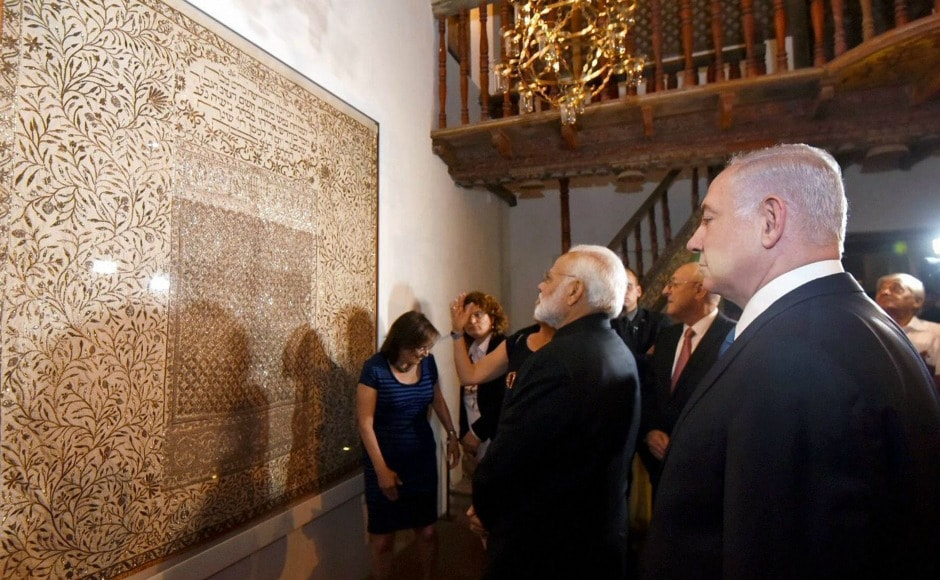 Narendra Modi, accompanied by Israeli prime minister Benjamin Netanyahu, then visited the Israel Museum in Jerusalem for an exhibition of Indian Jewish heritage. PTI