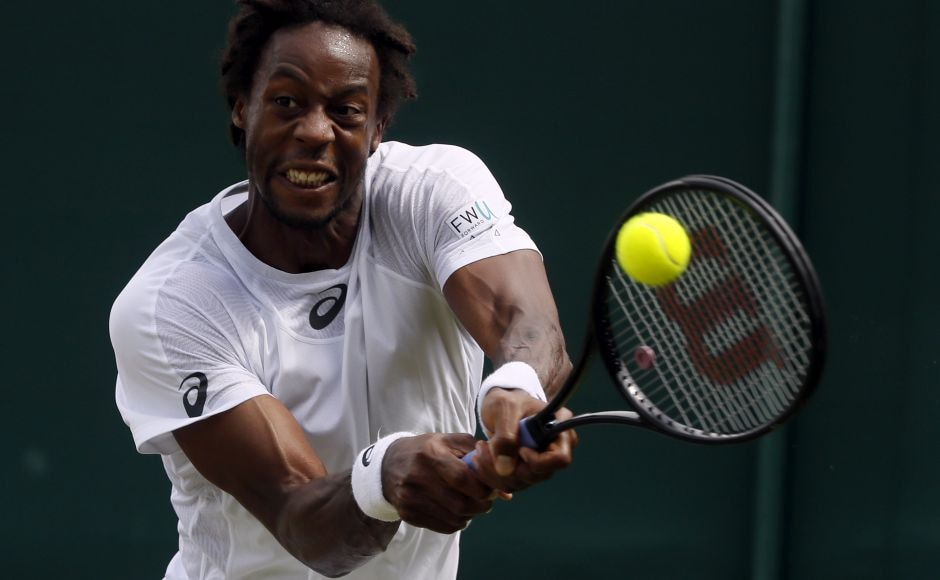 Frenchman Gael Monfils took out the German Daniel Brands 6-3, 7-5, 6-4 in the first round. AP