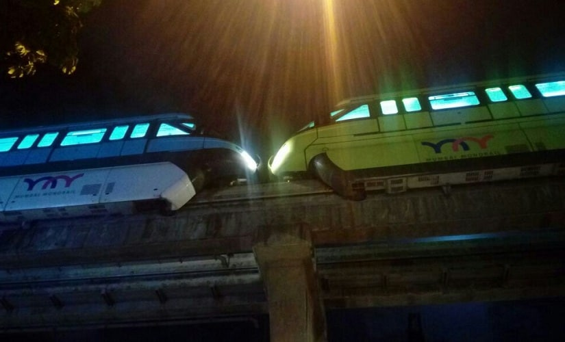 The image of the two monorails in Chembur that led to the confusion. Courtesy: Sanjay Sawant