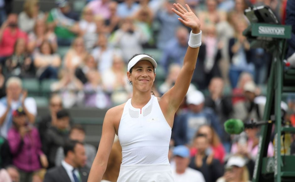 2015 runner-up Garbine Muguruza advanced confidently into the Wimbledon semi-finals with a calmly efficient and well-controlled 6-3, 6-4 victory over Russian seventh seed Svetlana Kuznetsova. Reuters