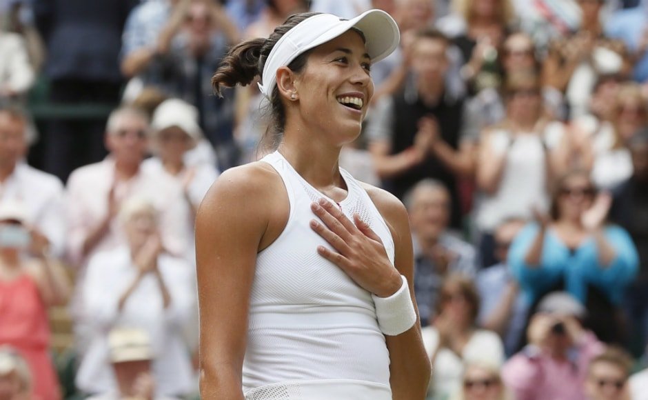 Garbine Muguruza reached her third career Grand Slam final and second at the All England Club. AP