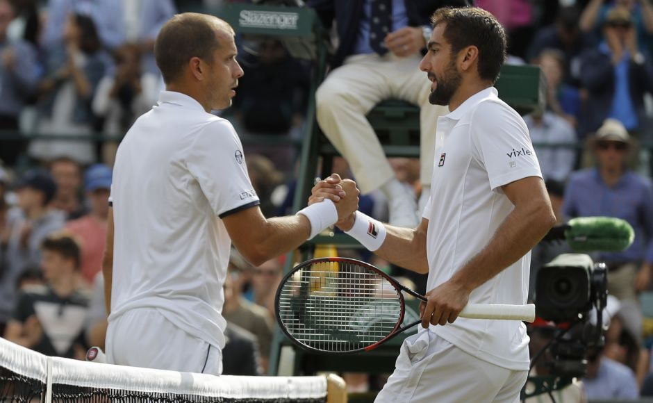 Seventh-seeded Marin Cilic beat Gilles Muller and will face Sam Querrey in the semi-final. AP