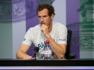Andy Murray during a press conference after losing his quarter final match against Sam Querrey. Reuters