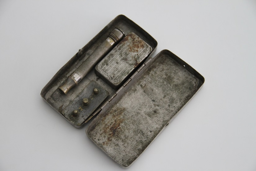 This shaving kit is part of the Museum of Objects exhibition