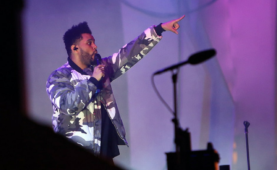 The Weeknd performs at the NOS Alive music festival in Lisbon, Portugal, on July 6, 2017. The NOS Alive music festival runs from July 6 to July 8 2017. (Getty Images)