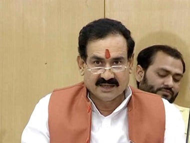 File image of Narottam Mishra. Image courtesy: News18