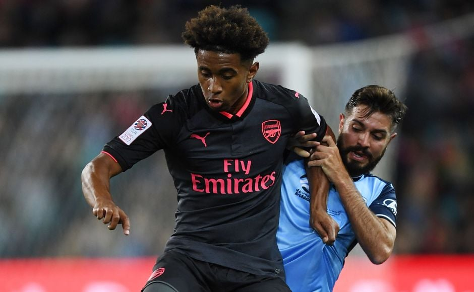 All eyes were on teenage sensation Reiss Nelson as he ripped apart the Sydney FC defence with his pace and on-the-ball skills in Sydney on Thursday. Twitter/@Arsenal